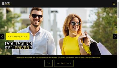 Site internet de Black Store