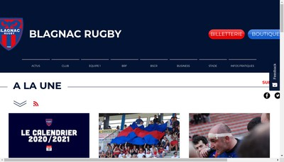 Site internet de Blagnac Rugby