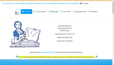 Site internet de Blanchisserie Fr