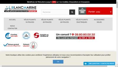 Site internet de Blanc Marine Cycles