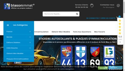 Site internet de BLASONIMMAT
