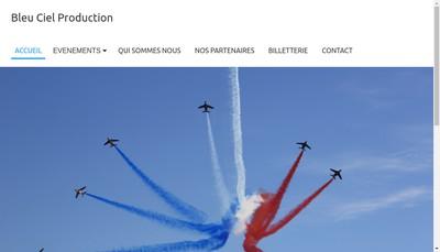 Site internet de Bleu Ciel Production