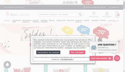 Site internet de Bleu Libellule