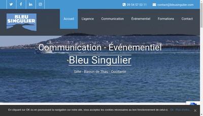 Site internet de Bleu Singulier