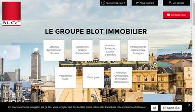 Site internet de Blot Habitat Est