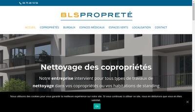 Site internet de BLS Proprete