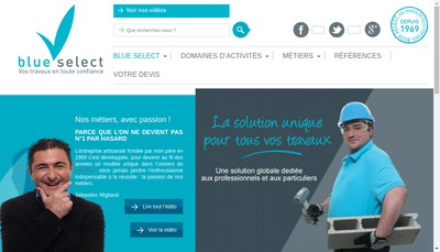 Site internet de Blue Select