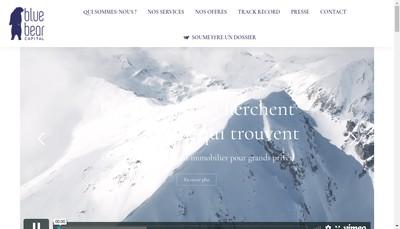 Site internet de Blue Bear Capital