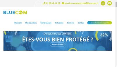 Site internet de Bluecom