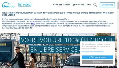 Site internet de Bluecub