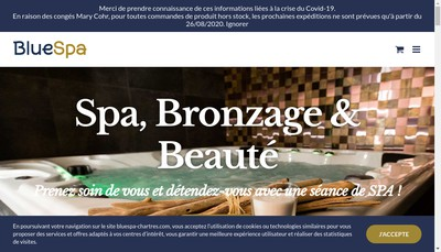 Site internet de Bluespa