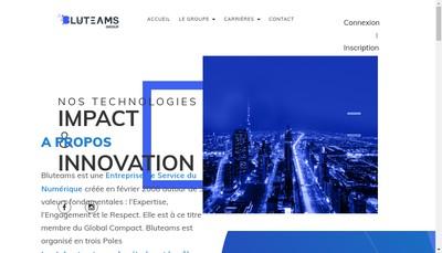 Site internet de Bluteams Consulting