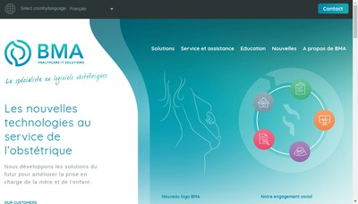Site internet de Ict Healthcare Technology Solutions France SAS