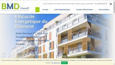 Site internet de Bmd Consult'