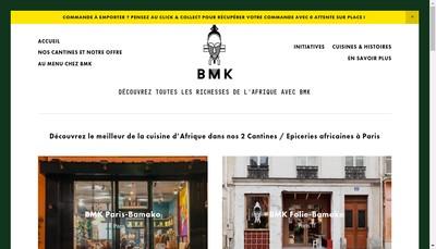 Site internet de Bmk Paris-Bamako