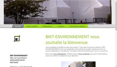 Site internet de Bmt Environnement