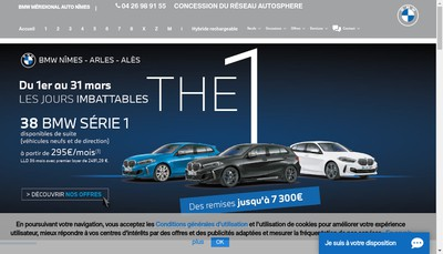Site internet de Meridional Auto