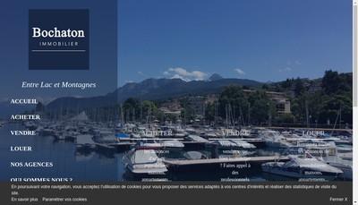 Site internet de Bochaton Immobilier