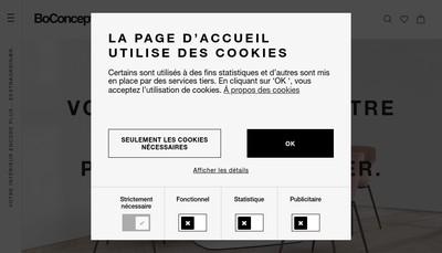 Site internet de Bo Concept