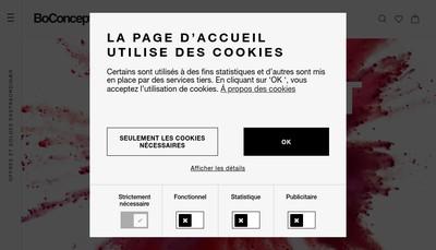 Site internet de Boconcept Rouen