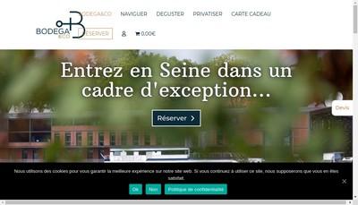 Site internet de La Bodega en Seine