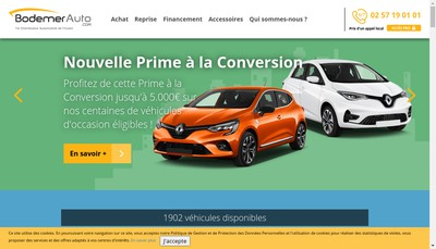 Site internet de Bodemer Auto Services