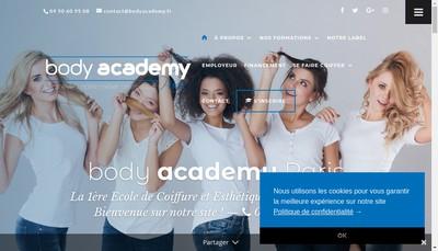 Site internet de Body Academy Paris