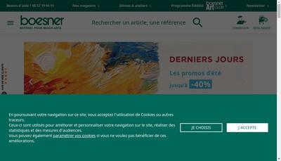 Site internet de SARL Boesner Lyon