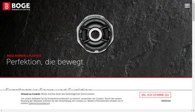 Site internet de Boge Elastmetall France