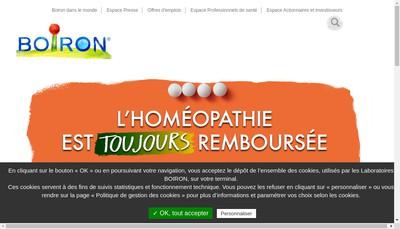 Site internet de SAS Boiron