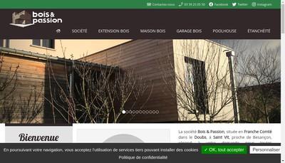 Site internet de Bois et Passion
