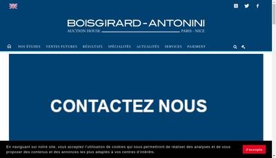 Site internet de Boisgirard-Antonini