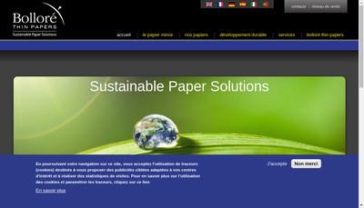 Site internet de Papeteries du Leman