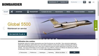 Site internet de Bombardier