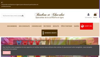 Site internet de Bonbon et Chocolat