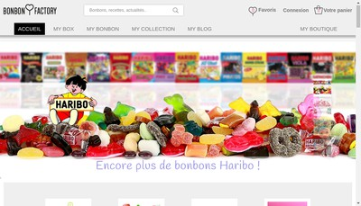 Site internet de Bonbon Factory