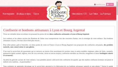 Site internet de Les Bonbons de St-Julien