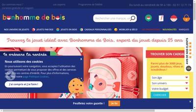 Site internet de Le Bonhomme de Bois