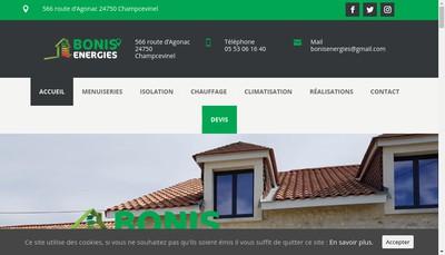 Site internet de Bonis Energies