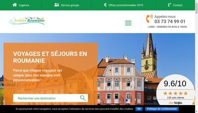 Site internet de Bonjour Roumanie