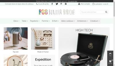 Site internet de Bonjour Bibiche