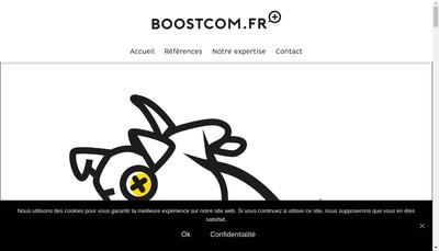 Site internet de Boost Communication