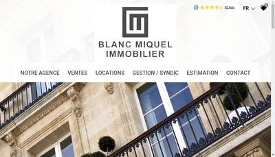 Site internet de Cabinet Miquel