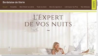 Site internet de Bordelaise de Literie