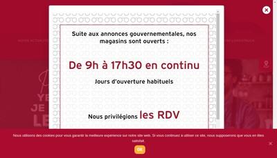 Site internet de Bordelaise de Lunetterie