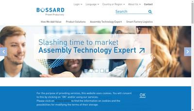 Site internet de Bossard France