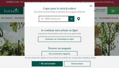 Site internet de Botanic