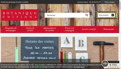 Site internet de Botanique Editions