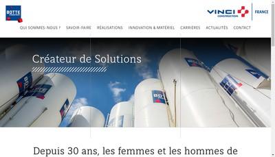 Site internet de Botte Fondations