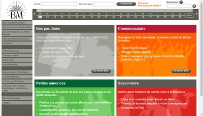 Site internet de Societe du Bottin Mondain